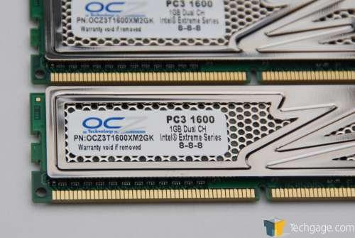 OCZ 2GB DDR3-1600 Titanium – Intel XMP Edition – Techgage