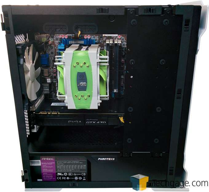 Phanteks Enthoo EVOLV Micro-Tower Chassis - Installed Hardware