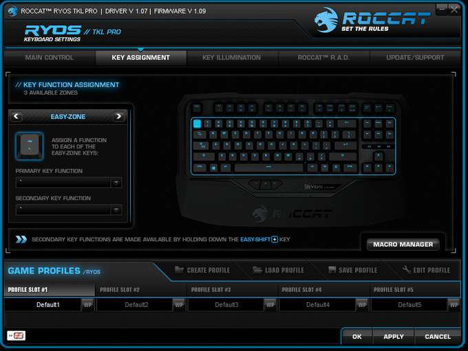 ROCCAT Ryos TKL Pro - Software - Key Assignment