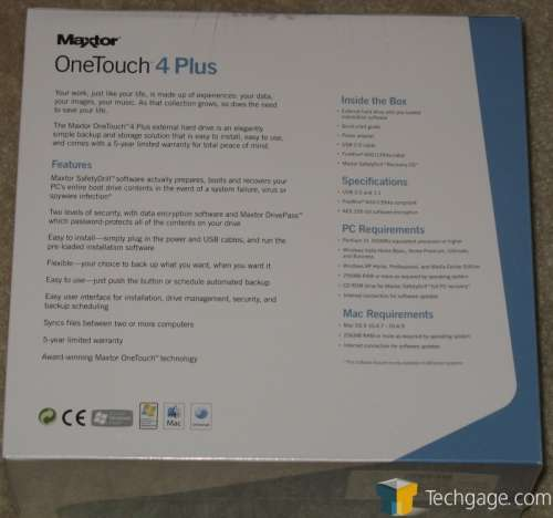 maxtor one touch user manual