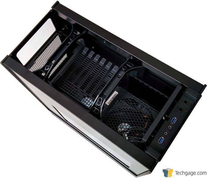 SilverStone Fortress FT05 Mid-Tower Chassis - Top Panel Removed