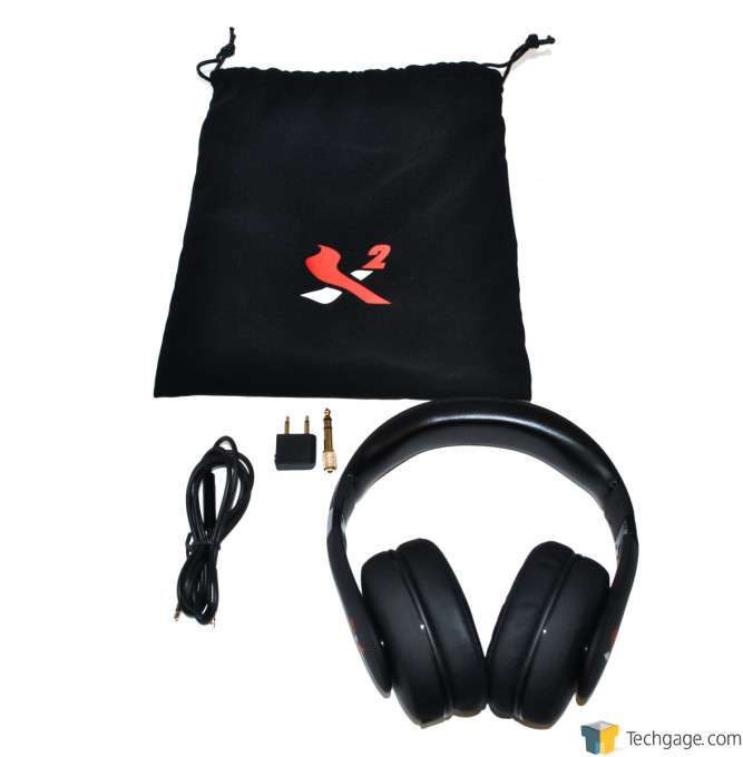 X2 Aurel Noise Cancelling Headphones - Package Contents