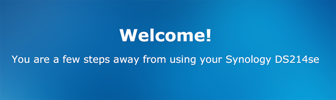 Synology BeyondCloud Preconfigured NAS - Welcome Page
