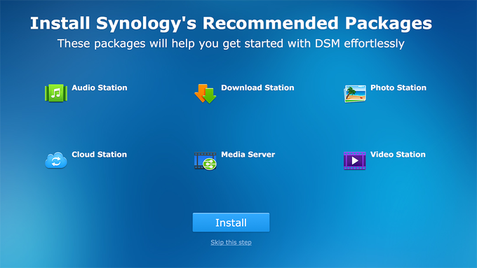Synology BeyondCloud Preconfigured NAS - Recommended Packages
