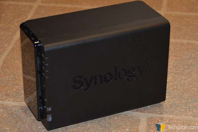 Synology DS213+ NAS Server - Right-side