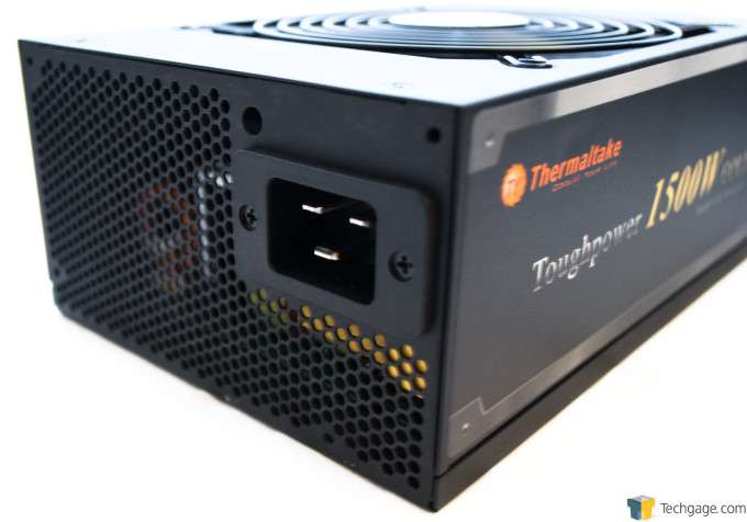 Thermaltake Toughpower 1500W Gold Power Supply - Rear of PSU