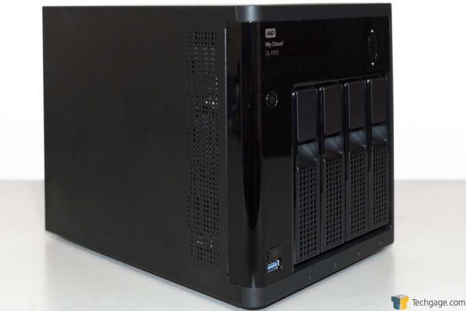 WD My Cloud DL4100 Business NAS - Side