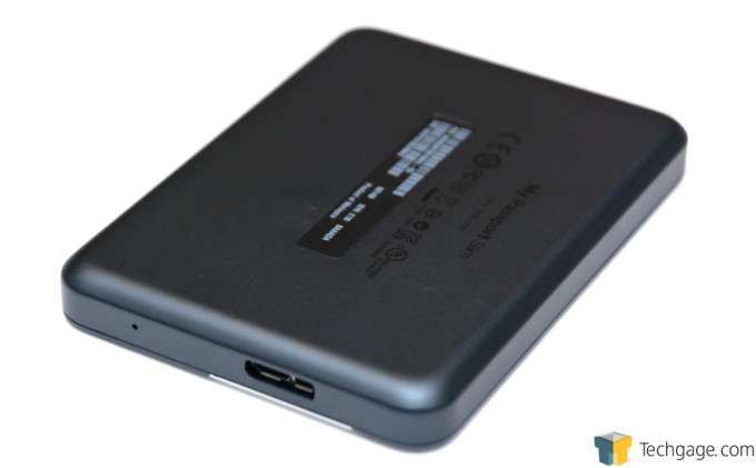 WD MyPassport Slim 1TB - Back