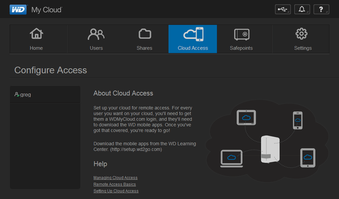 WD My Cloud - Configuring Access
