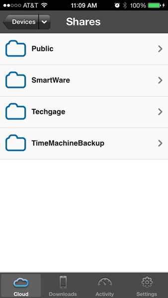 WD My Cloud - Mobile App Shares