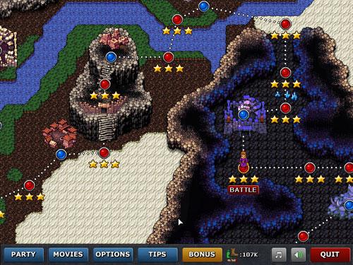 Defender's Quest: Map Screen