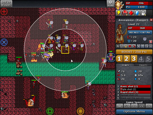 Defender's Quest: Battle Screen