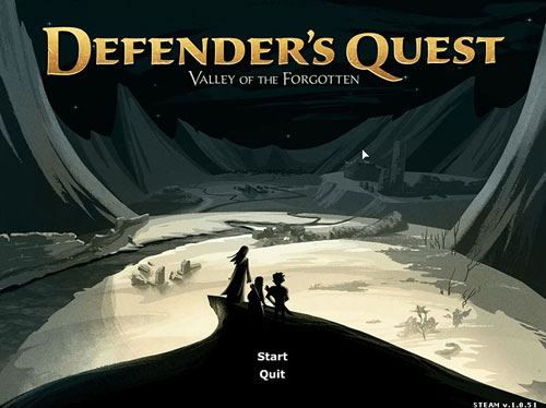 Defender's Quest: Title Screen