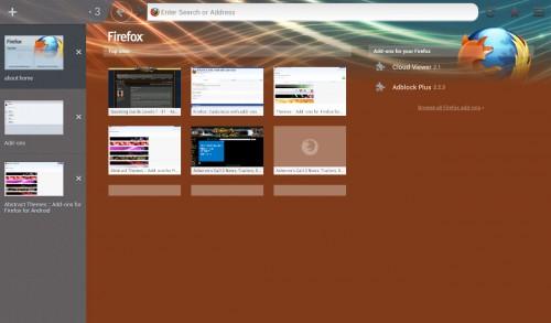 Mozilla Firefox 19 Android Theme
