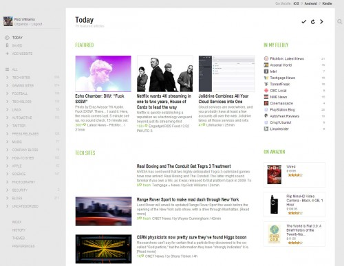 Feedly Web-based Client