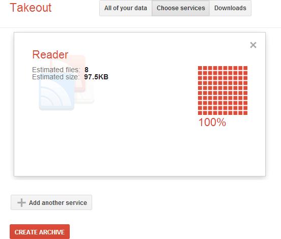 Google Reader Takeout