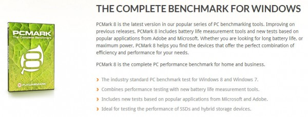 Futuremark PCMark 8 Description