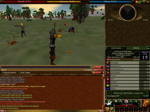 Old-school Asheron's Call - Mass Deaths
