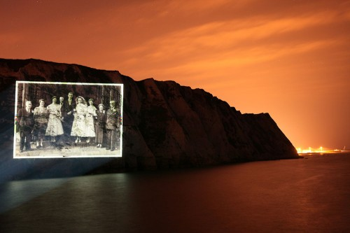 Photo Projection White Cliffs of Dover