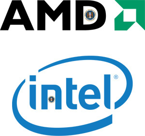 AMD and  Intel Logo