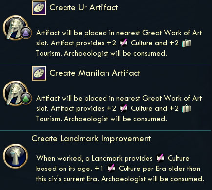 Civilization V Brave New World - Archaeological Find