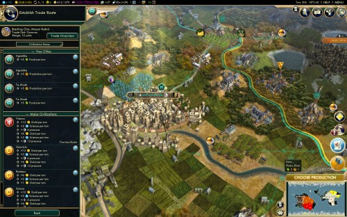 Civilization V Brave New World - International Trade Routes