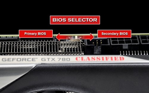 EVGA GeForce GTX 780 Classified BIOS Selector