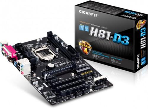 GIGABYTE H81-D3 Motherboard