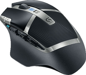 Logitech G602 Wireless Gaming Mouse Angled