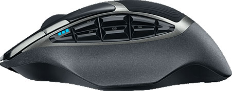 Logitech G602 Wireless Gaming Mouse Side