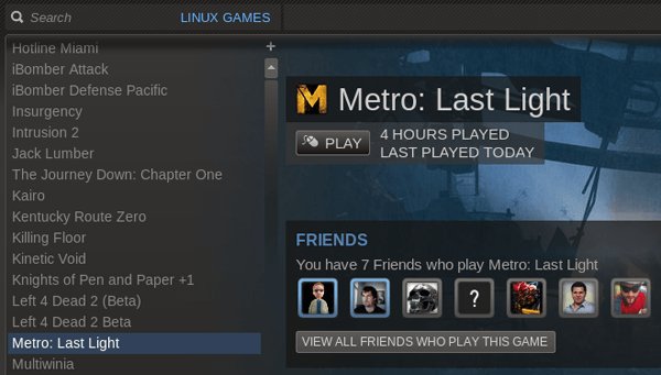Metro Last Light Linux Steam