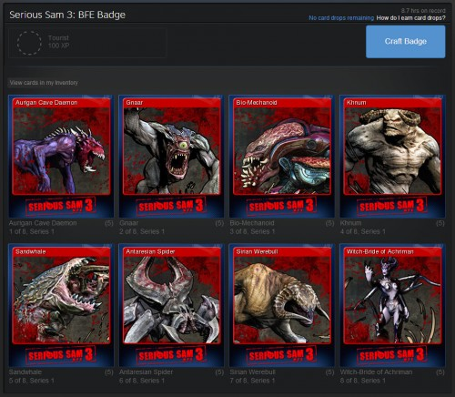 Serious Sam 3 Steam Trading Cards