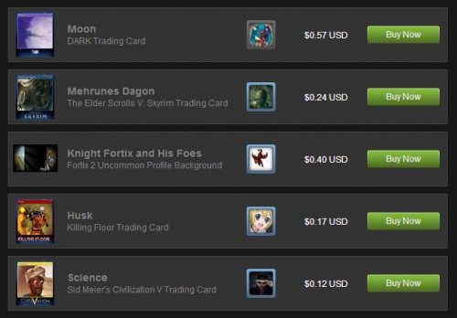 Steam Trading Card Values