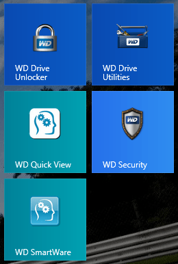 WD My Passport Ultra Apps
