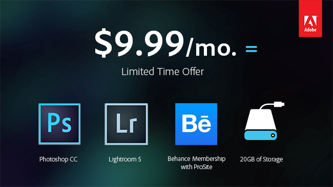 Adobe Lightroom CC Limited-time Offer