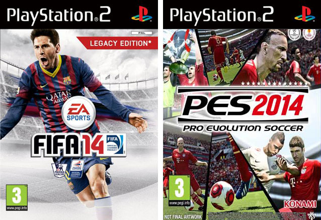 FIFA 14 and PES 2014 PlayStation 2