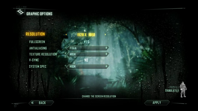 Crysis 3 Benchmark Settings