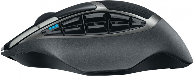 Logitech G602 Wireless Gaming Mouse - Left Side