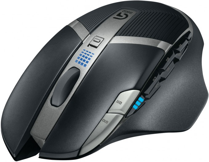 Logitech G602 Wireless Gaming Mouse - Top Angle