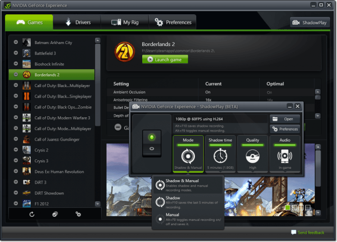 NVIDIA GeForce Experience - ShadowPlay