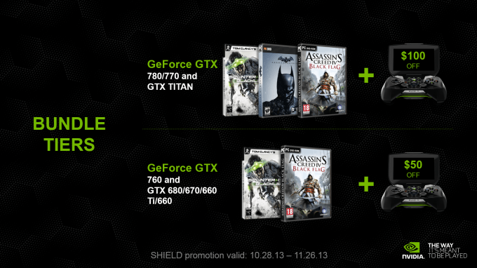 NVIDIA GeForce GTX Holiday Bundle 2013