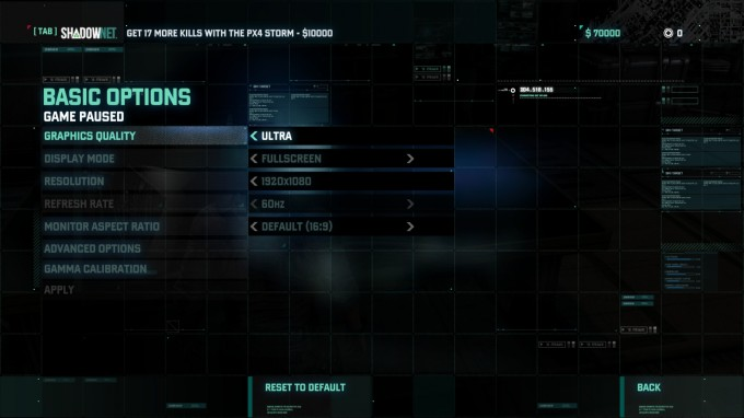 Splinter Cell Blacklist Benchmark Settings