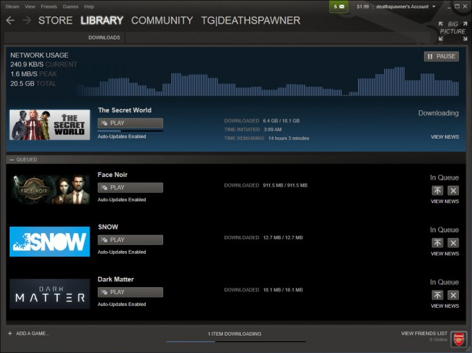 Steam Download Manager Update