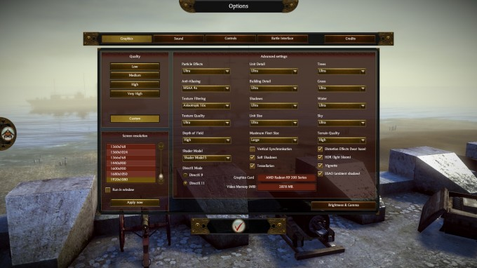 Total War SHOGUN 2 Benchmark Settings