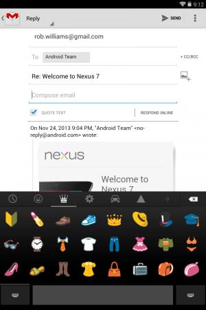 Android KitKat Nexus 7 emoji