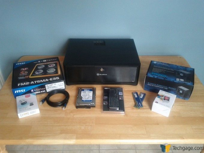 HTPC Parts Arranged and Ready to be Installed