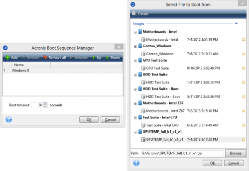 Acronis True Image 2014 Boot Sequence Manager