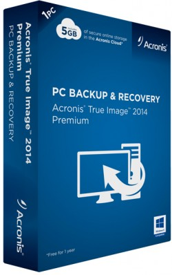 Acronis True Image 2014 Box Art