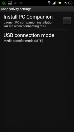 Android 4 USB Connectivity