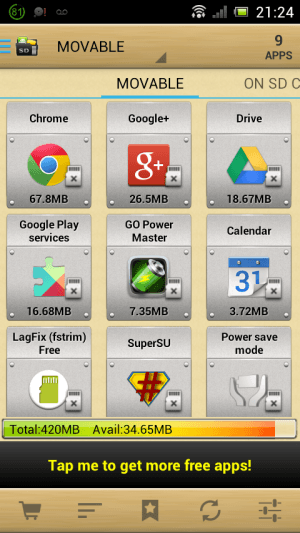 Android App 2 SD - Can Be Moved to microSD